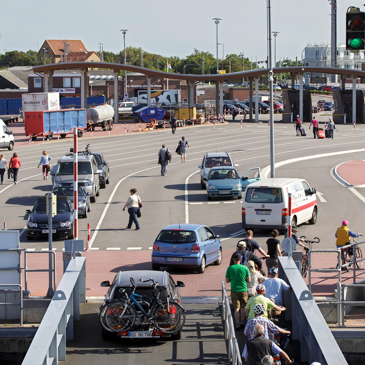Anreise Zur Insel Wangerooge Mit Dem Auto Pkw: Ferienwohnung Auf Norderney Barke 13